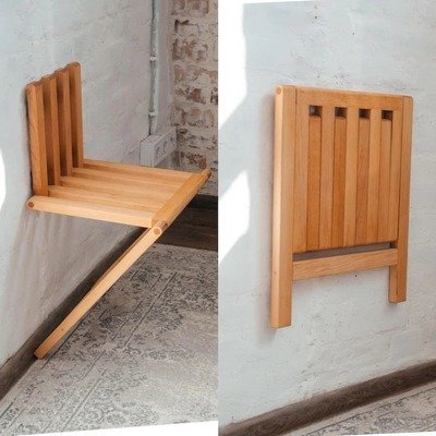 A Wall-Mounted Unfolding Hallway Chair - Core77
