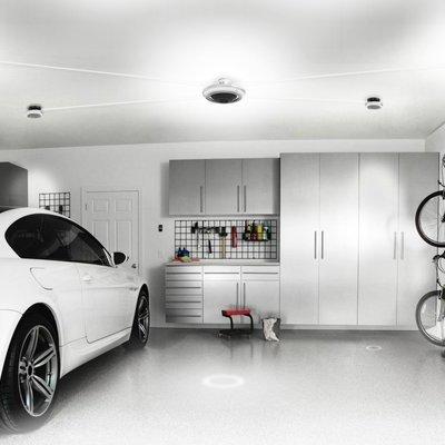 Smart Design for Garage Lighting: One Light Bulb Socket, Five Distributed Lights, No Wiring Needed - Core77