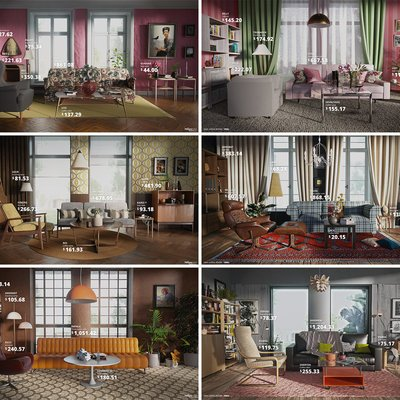 An Ikea Living Room from Each Decade, 1950s to Today - Core77