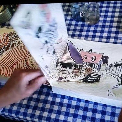 I Wish This Was a Trend Among Industrial Designers: David Hockney Wordlessly Pages Through His Sketchbook - Core77