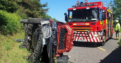 Driver fortunate to escape serious injury after collision just outside Cork city