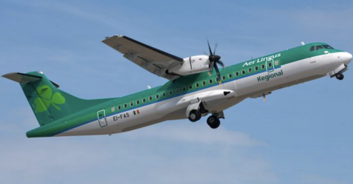 Every flight leaving from Belfast City Airport after Aer Lingus replacement