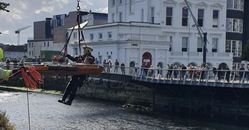 Dramatic river rescue in Cork city after young man falls into Lee at low tide