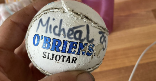Cork lad's sliotar washes up on a beach in Wales