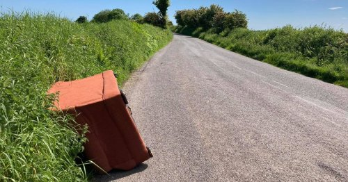 Local looking to reunite 'misplaced' sofa with owner who dropped it on Cork road