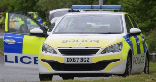 Motorcyclist crashes into ladder on A38