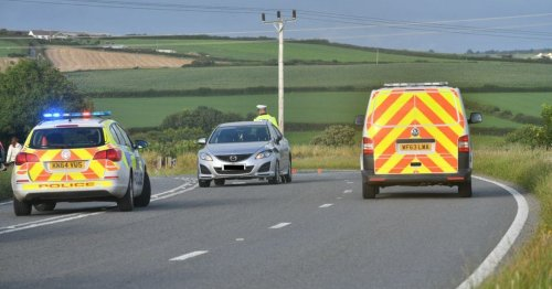 Car overturns and lands on its roof in Cornwall
