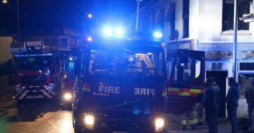 Fire crews called to blaze in aircraft hangar
