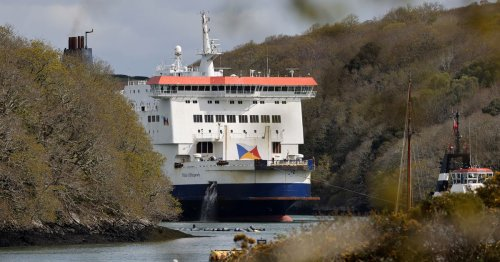 Cross-Channel ferry bids farewell to Cornish river