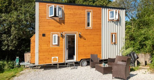 Hand-built, two-bed tiny house on wheels is yours for only £50K