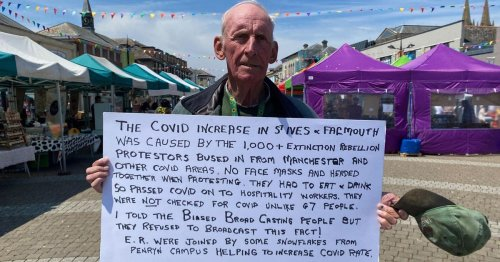 Protesting pensioner says Extinction Rebellion 'caused Covid increase'