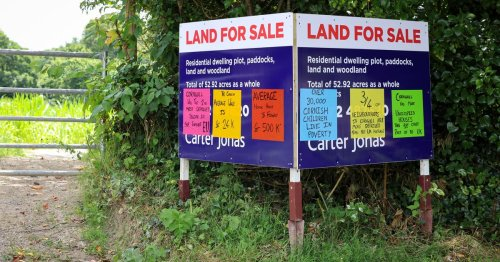 Angry locals 'graffiti' £1.75m sale sign in housing crisis protest