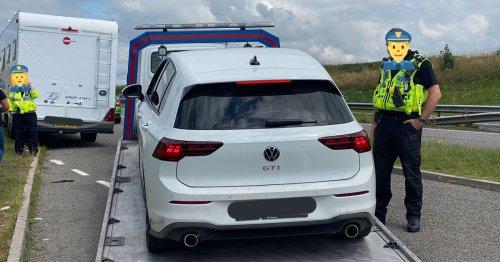 Motorhome driver runs across A30 lanes to evade cops