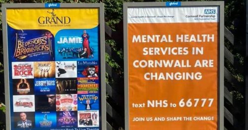 'Bizarre' Cornwall NHS posters confuse people in Leeds and London
