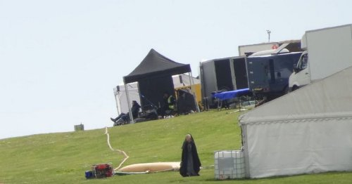 Priests, guards and crowds on Game of Thrones set in Cornwall
