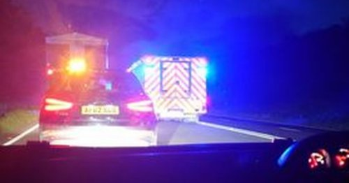A30 closed following two-vehicle crash