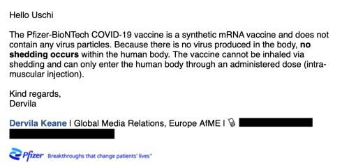 Covid-19-Impfstoffe sind nicht von Geimpften auf Ungeimpfte übertragbar