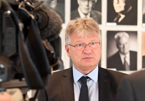 AfD-Chef Jörg Meuthen und sein Freund aus der Schweiz