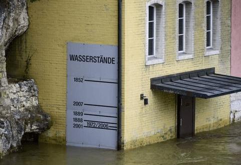 Hochwasser: Was ein Foto von Wasserständen aus der Schweiz mit dem Klimawandel zu tun hat