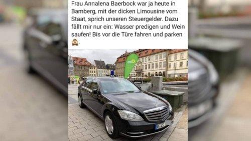 Nein, Annalena Baerbock ist nicht mit diesem Mercedes zum Wahlkampf in Bamberg gefahren
