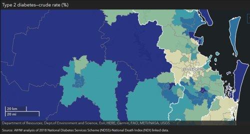 Chronic disease mapped across Australia