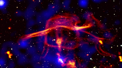 Black holes belch out intergalactic smoke