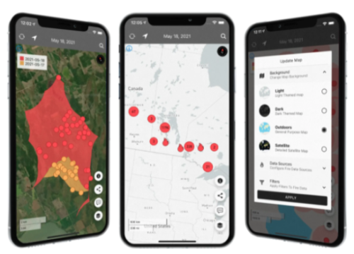 New Canadian app detects and tracks forest fires in real-time
