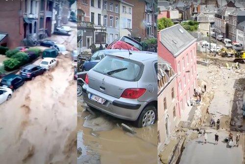 Vidéo. Belgique : les images des crues éclair qui ont frappé Dinant et Namur