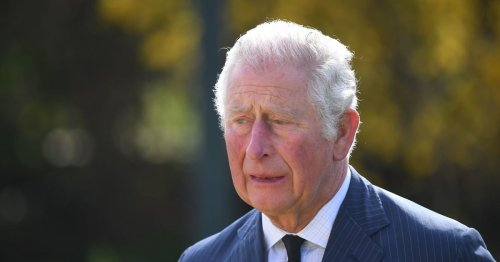 Charles fights back tears as he sees floral tributes left for Prince Philip