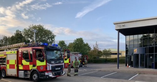 Fire crews called to blaze at Formula 1 parts factory in Coventry