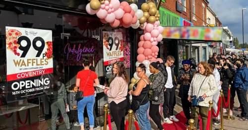 Mile-long queues form on Little Dessert Shop Coventry's opening day