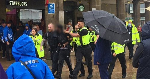 Man arrested in city centre accused of assaulting police officer
