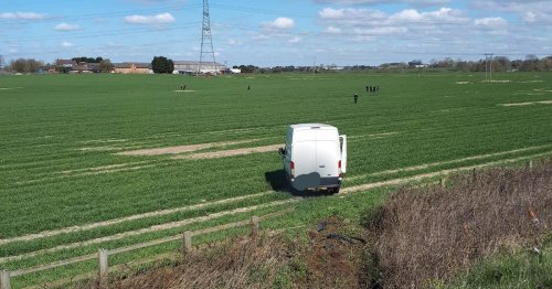 Van driver went down motorway embankment and in to field in bid to escape police