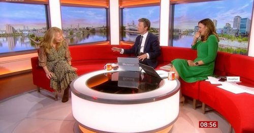 BBC Breakfast host gets a telling off from Corrie star live on TV