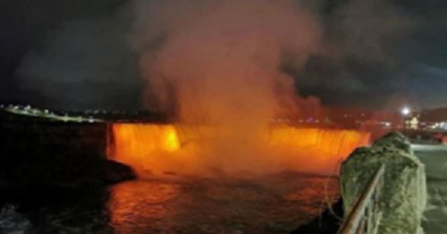 Niagra Falls lights up orange in honour of Azaylia Cain
