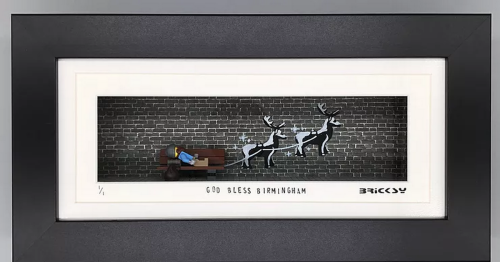 Banksy-inspired Lego art to be auctioned off by Flogit! star