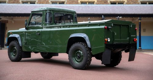 Philip's Solihull-built Land Rover hearse - and he designed it himself