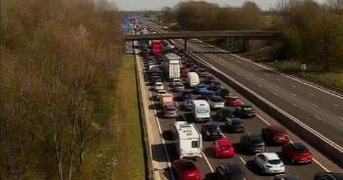 Live: Crash closes all lanes on M6 southbound
