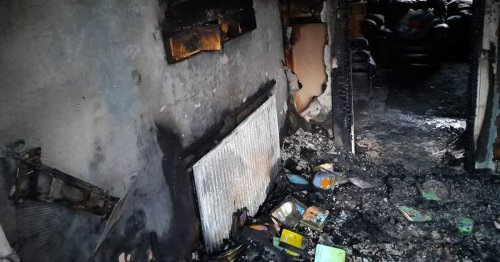 Pictures show devastating aftermath of house fire