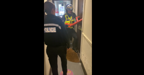Police raid home leaving suspect 'handcuffed naked' as he claims it's 'unfair'