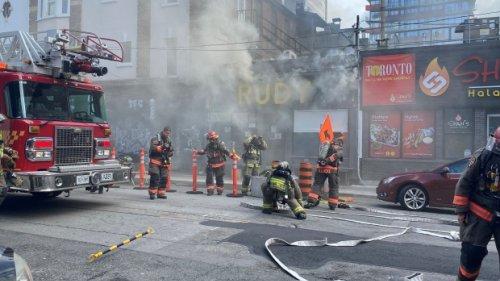 Toronto fire investigating blaze at Rudy restaurant downtown