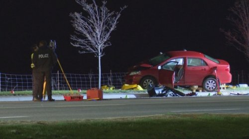 Female dead after overnight collision in Brampton