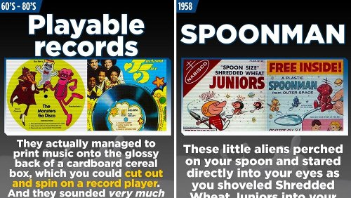 15 Bonkers Breakfast Cereal Prizes From The Good Old Days