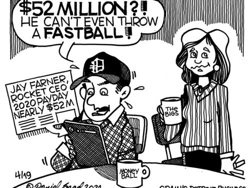 $52 million pay day, and no fast ball? - Crain's editorial cartoon