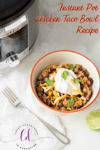 Instant Pot Chicken Taco Bowl Recipe