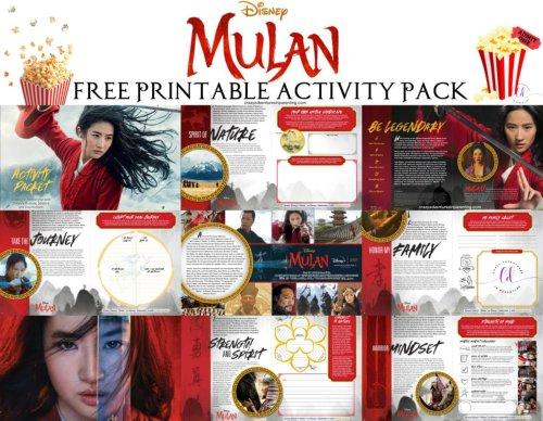 Free Printable MULAN Activity Packet