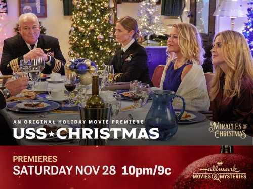 """Hallmark Movies & Mysteries Movie Premiere of """"USS Christmas"""" on Saturday, November 28th at 10pm/9c! #MiraclesofChristmas"""