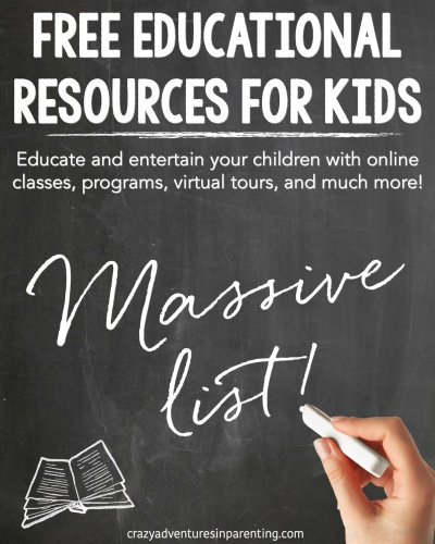 HUGE LIST of Free Educational Resources for Kids Due to School Closings #DistanceLearning