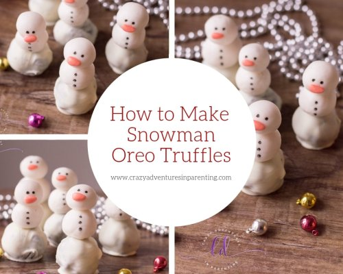 Snowman Oreo Truffles