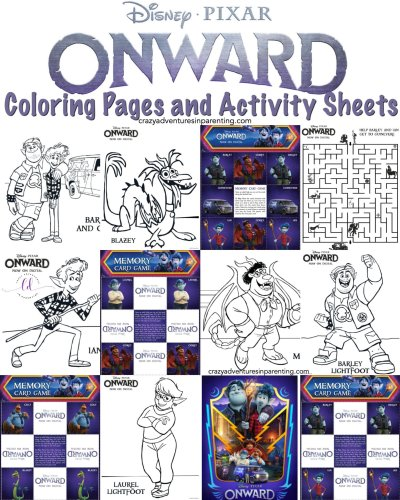ONWARD Coloring Pages and Activity Sheets